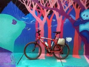 Fotografias de bicicleta e arte de rua em São Paulo
