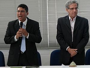 Antônio Alexandre (E) e Ricardo Leitão falaram dos planos para a região (Foto: Kath Coutinho / G1)