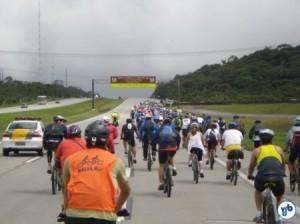 Uma estrada de bicicletas