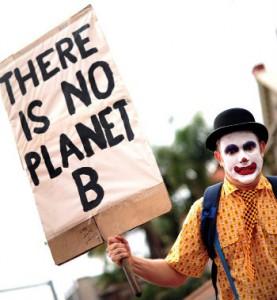 Manifestante protesta em Durban, durante a COP17