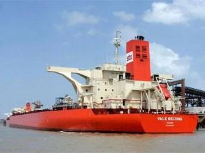 Marinha autoriza retirada de óleo de supercargueiro da Vale
