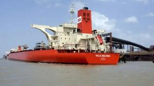 Combustível do navio Vale Beijing será retirado até o final da próxima semana