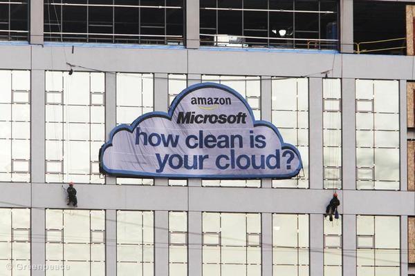 Que tipo de energia alimenta a sua nuvem?