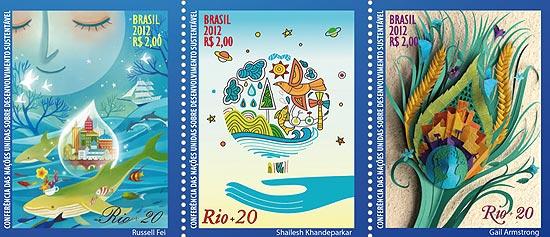 Correios lançam selos temáticos sobre a Rio+20