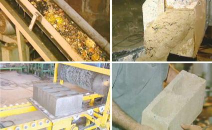 Os tijolos são inodoros e livres de germes. Fotos: Reprodução