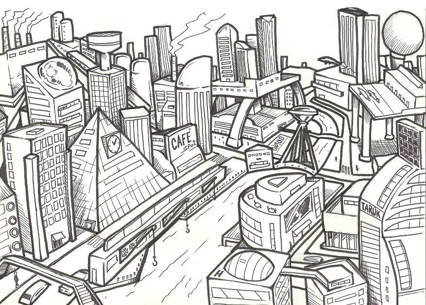 A cidade do lado de fora