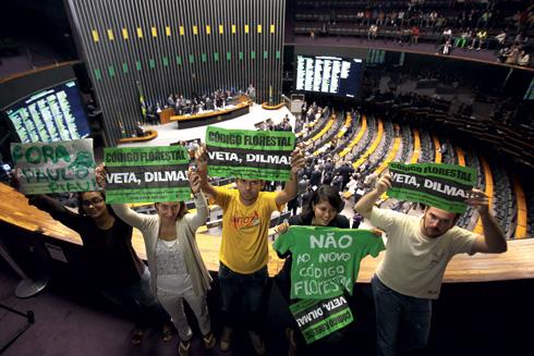 """""""Veta Dilma"""": Presidente vai analisar polêmica aprovação do novo Código Florestal e poderá barrar itens do projeto"""