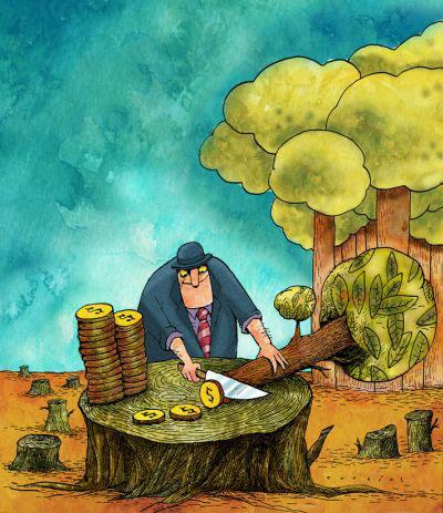 A batalha pelo veto para salvar as florestas