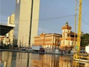 Área do Centro de Manaus atingida pela cheia (Foto: Chico Batata)