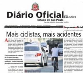Governo de São Paulo recomenda: não ande de bicicleta na rua