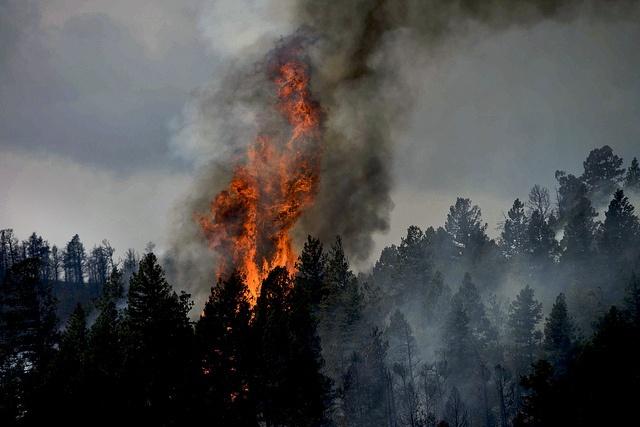 Incêndio em torno da cidade de Colorado Springs, Estados Unidos. Foto: Charles McCain