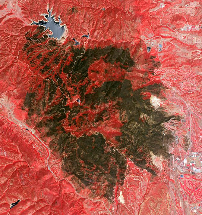 Incêndio deixa cicatriz em área preservada nos EUA