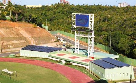 Inauguração do projeto Pituaçu Solar, primeiro estádio de futebol da América Latina a operar com energia solar. Fotos:Manu Dias/Secom-BA