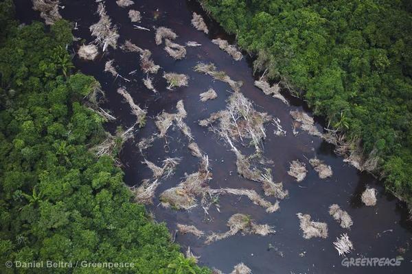 Emenda aprovada pode deproteger todos os rios brasileiros, uma vez que qualquer rio pode se tornar intermitente diante da erosão, do desmatamento e da mudança climática. (© Daniel Beltrá / Greenpeace)