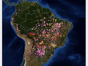 Registro de queimadas no país este ano é 61% maior do que em 2011