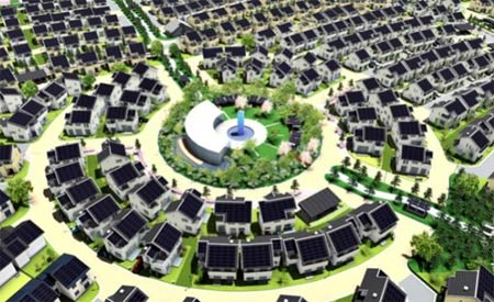 Projeto da Fujisawa Sustainable Smart Town (Fujisawa SST), cidade japonesa que deve ficar pronta até 2014.  Foto: Divulgação