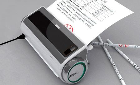 A máquina utiliza papel usado para dar uma cara nova aos lápis Fotos: Divulgação