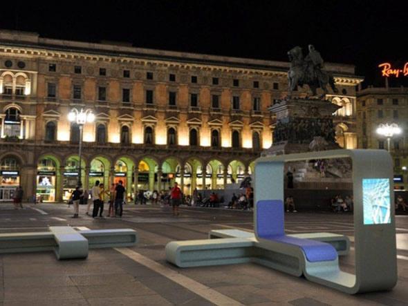 Quiosque da InfoPoint: equipe desenvolveu o quiosque para ser instalado inicialmente em Milão