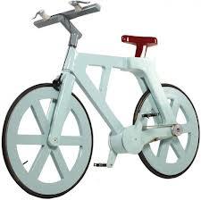 Bicicleta de papelão que aguenta 220 quilos está pronta para ser fabricada