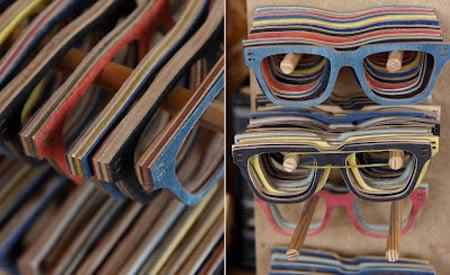 As camadas que compõem um skate criam variações infinitas de cores, o que fornece a cada peça um caráter único / Foto:Divulgação