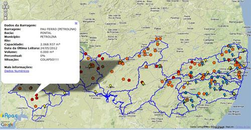 Monitoramento revela barragens em situação de colapso