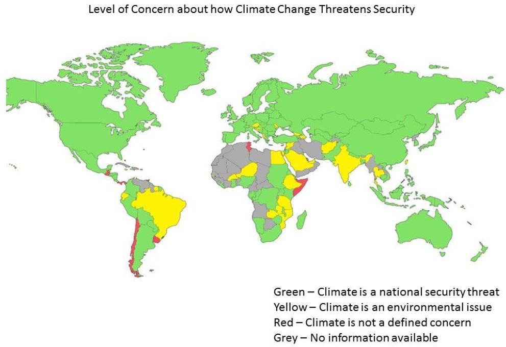 Pelo menos 110 países já consideram as mudanças climáticas uma questão de segurança nacional