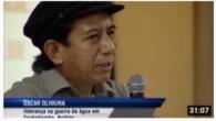 Apresentação de Oscar Oliveira, liderança na Guerra da Água em Cochabamba, Bolívia, no Seminário internacional sobre o colapso hídrico, realizado em dezembro de 2015.